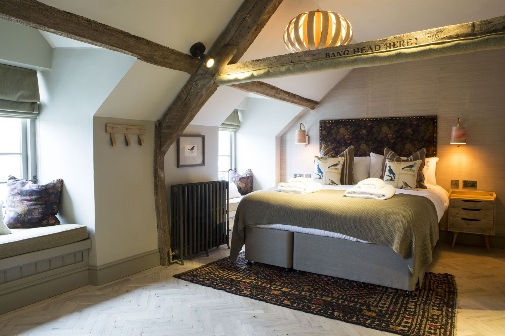 A picture of one of the brilliant bedrooms at the George III in Dolgellau